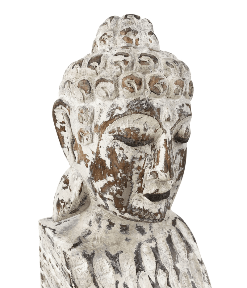 Ethnic Buddha Figure, Albasia Wood
