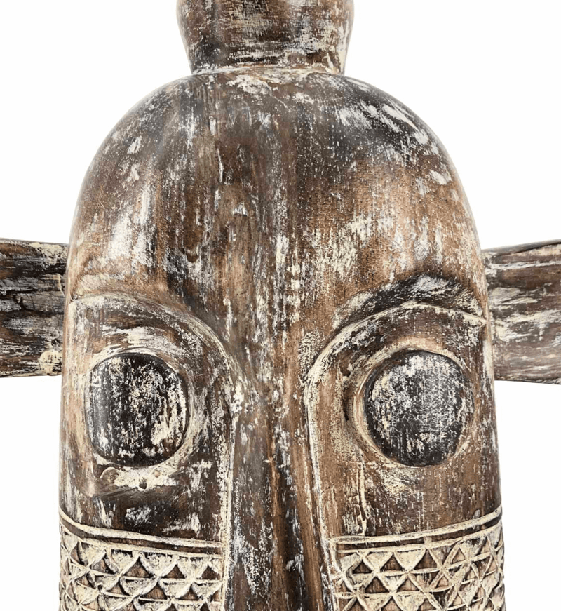 Ethnic Mask Figure, Albasia Wood