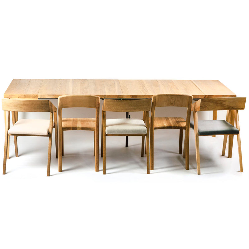 Oak Wood Extendable Dining Table