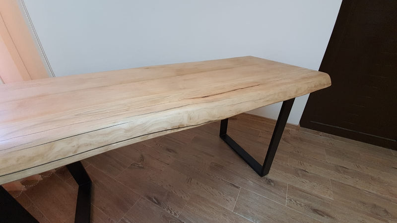 Live Edge Cherry Wood Dining Table