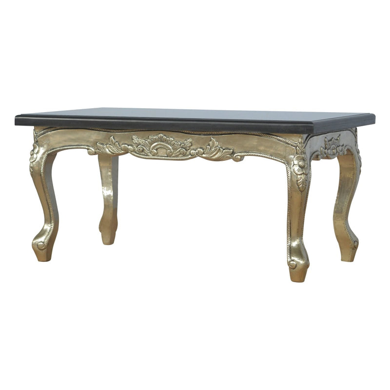 Handcrafted Nickel Silver and Marble Top Table - HM_FURNITURE
