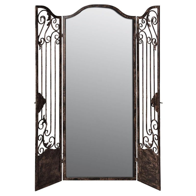 Mirrored Iron Room Divider - HM_FURNITURE