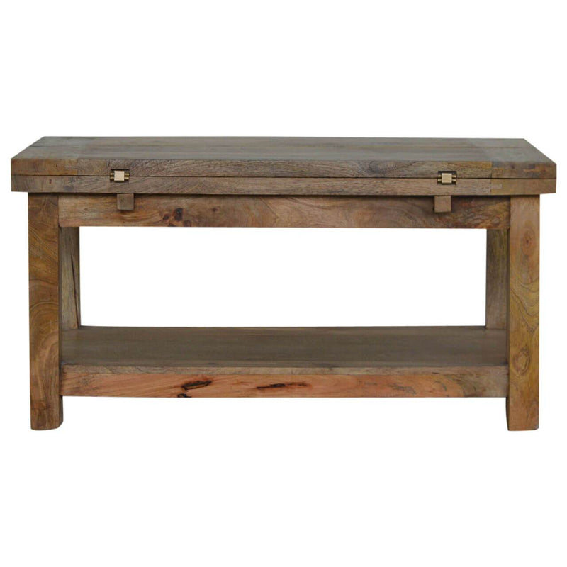 Handcrafted Extendable Solid Wood Coffee Table - HM_FURNITURE