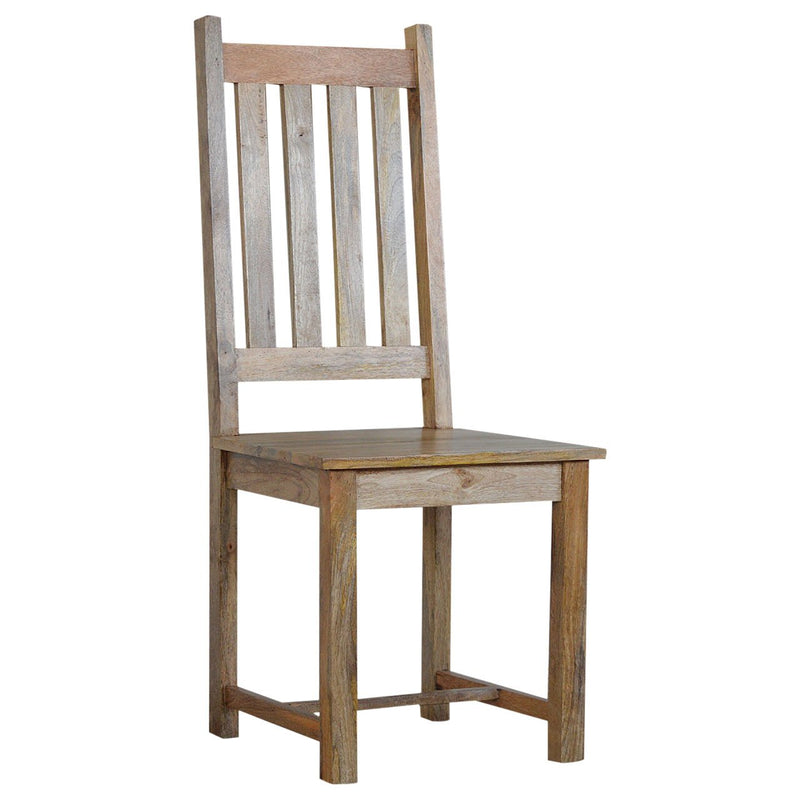 Ladder Back Mango Wood Dining Chair  - Set of 2 - HM_FURNITURE