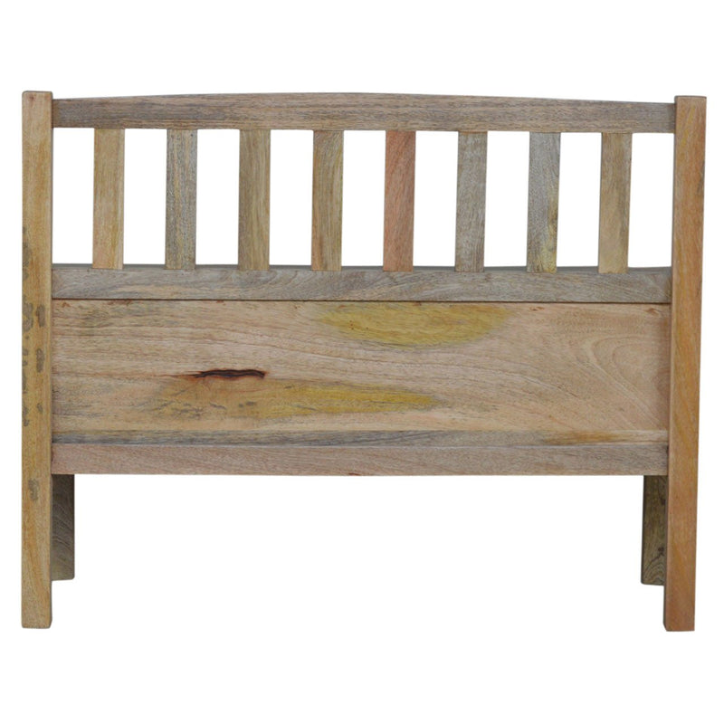 Handcrafted His & Hers Engraved Bench With 2 Compartments - HM_FURNITURE