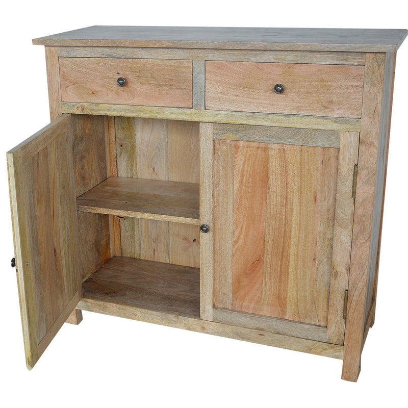 Mango Wood 2 Doors Sideboard With 2 Drawers - HM_FURNITURE