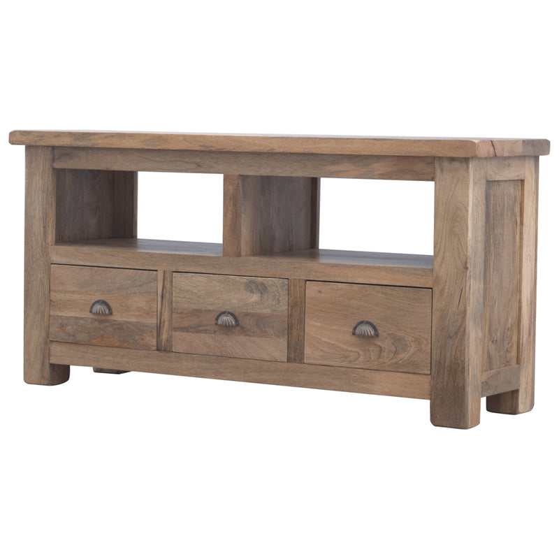 3 Drawers 2 Shelves Media Unit