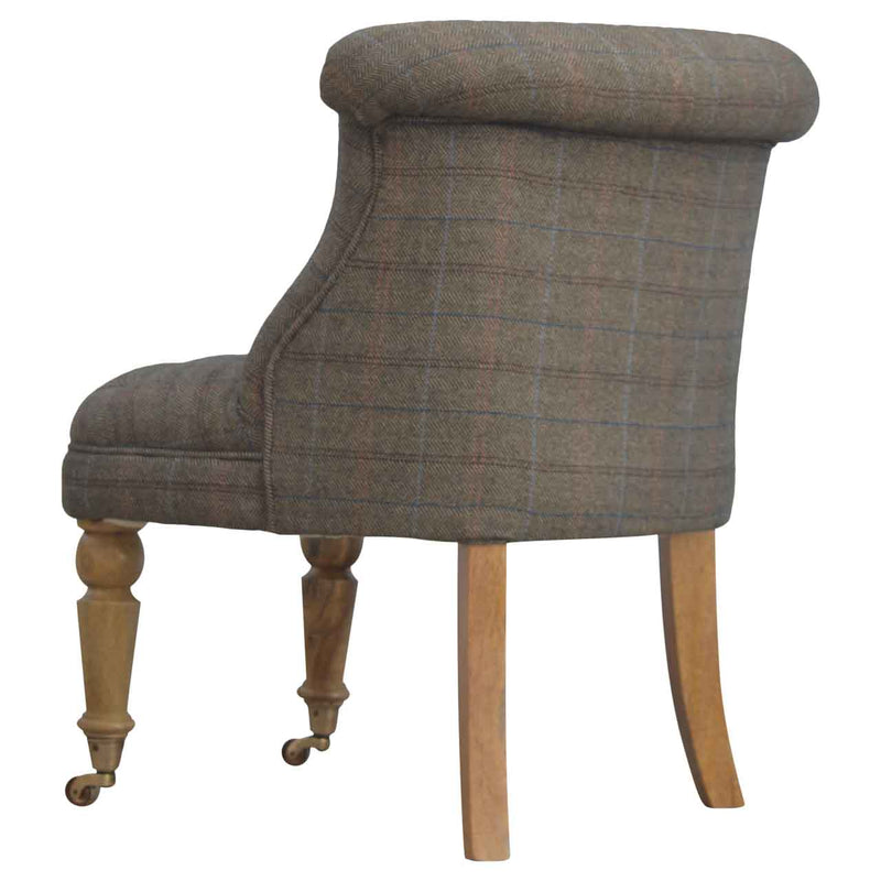 Handcrafted Petit Multi Tweed Chair - HM_FURNITURE