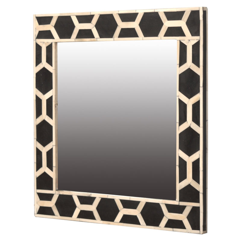 Handcrafted Bone Inlay 2 Shades Mirror - HM_FURNITURE