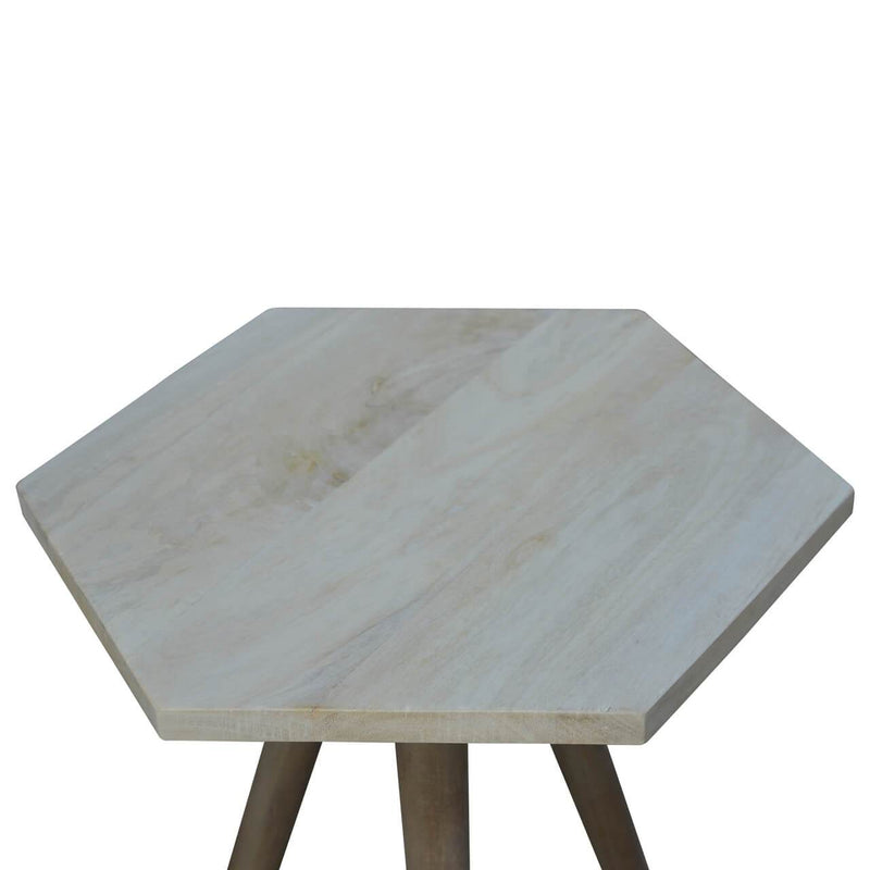 Handcrafted Hexagonal Side Table - HM_FURNITURE