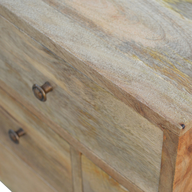 Handcrafted 4 Drawer Bedside