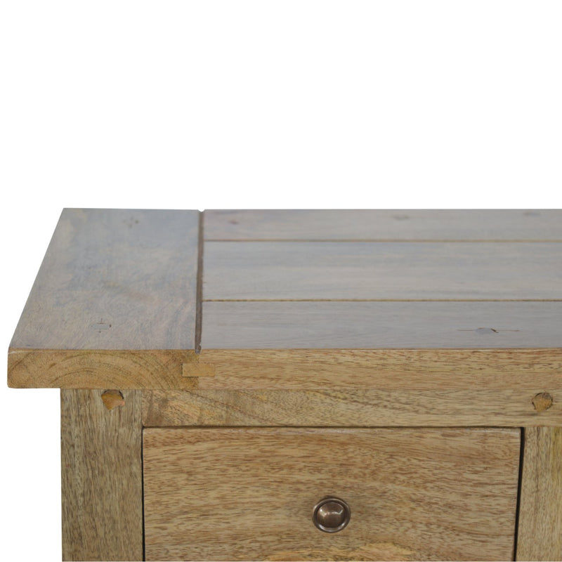 Country Style Low Media Unit With 3 Drawers and 2 Shelves - HM_FURNITURE
