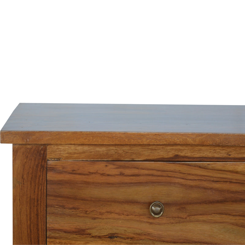 Rose Wood 4 Drawer Console Table