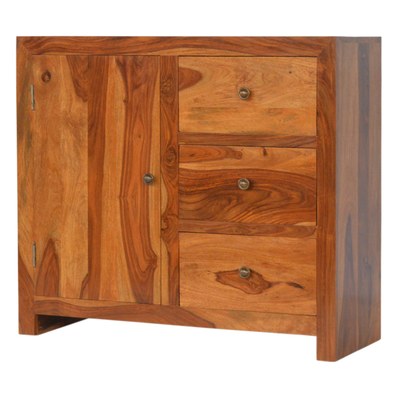 Rose Wood 1 Door 3 Drawers Cabinet