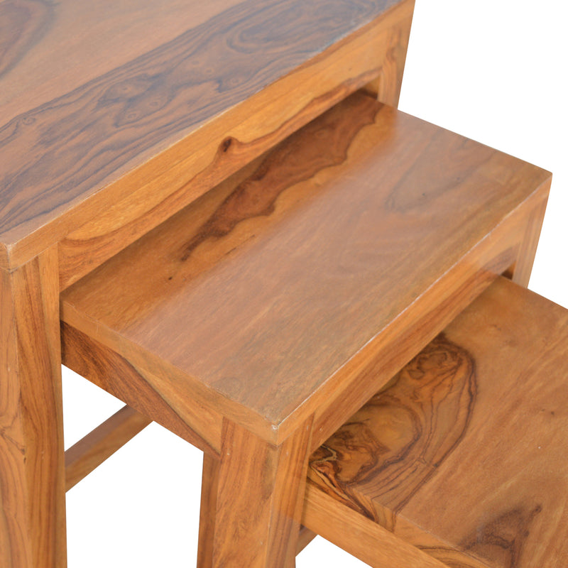 Rose Wood Nest of Tables