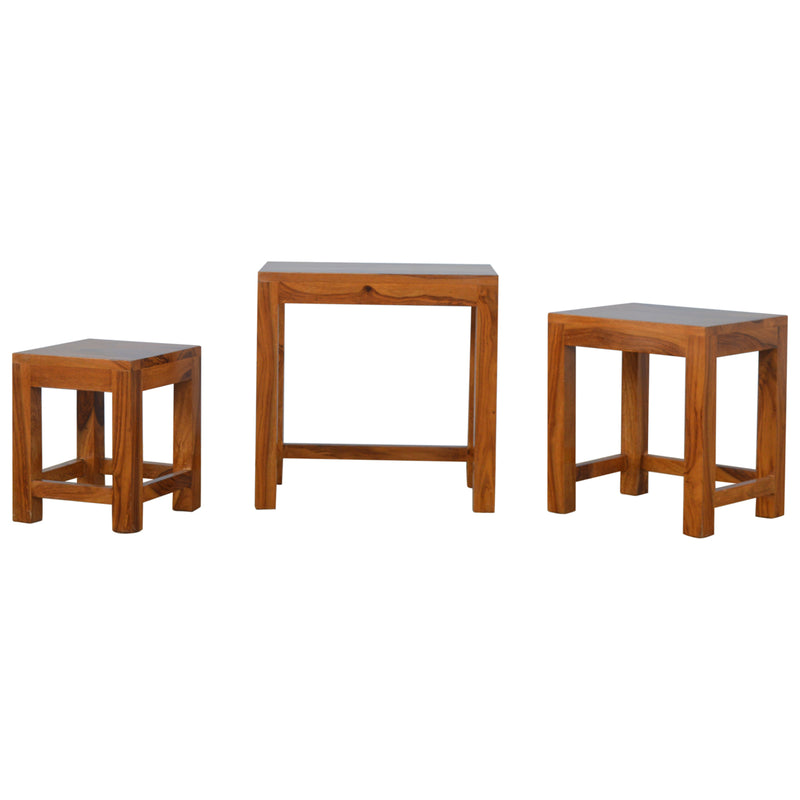Indian Rose Solid Wood Nest Of Tables