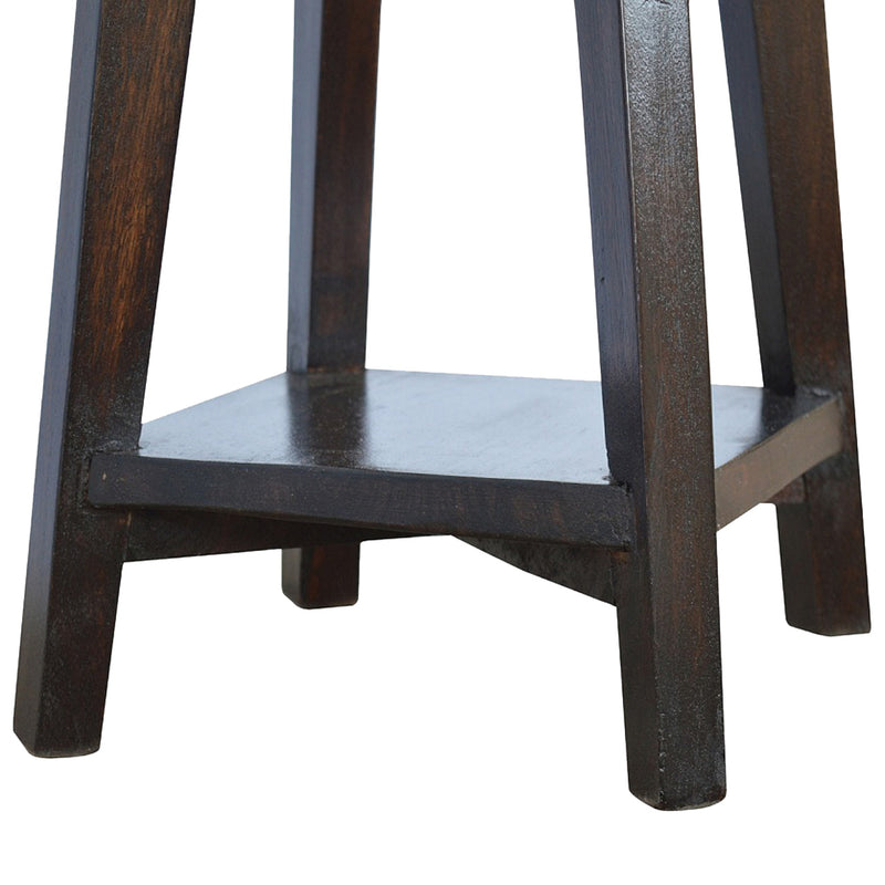 Handcrafted Solid Wood Walnut Finish Bar Stool