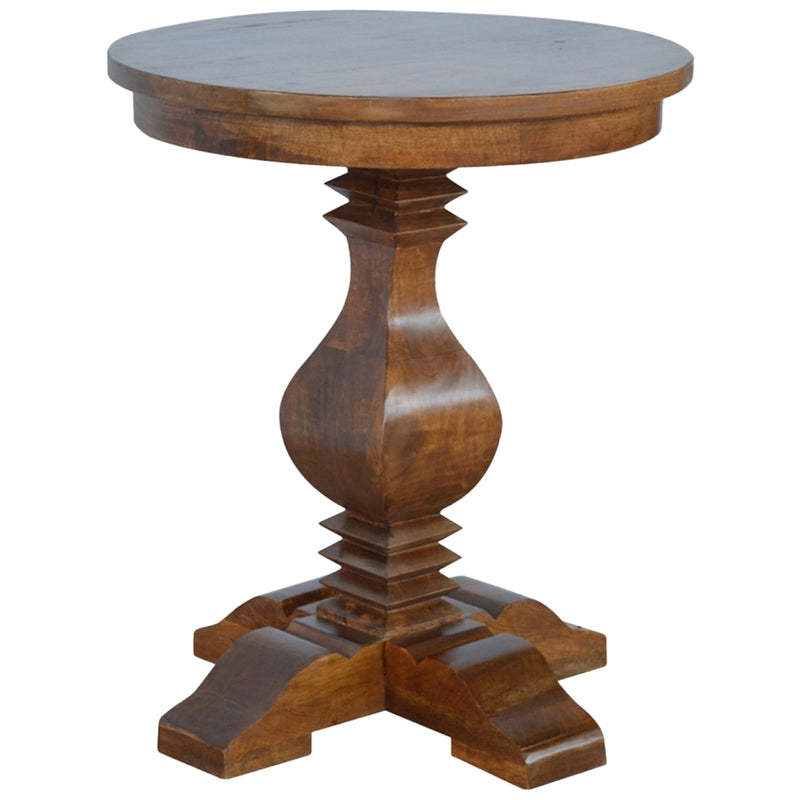 Walnut Finish Round Occasional Table