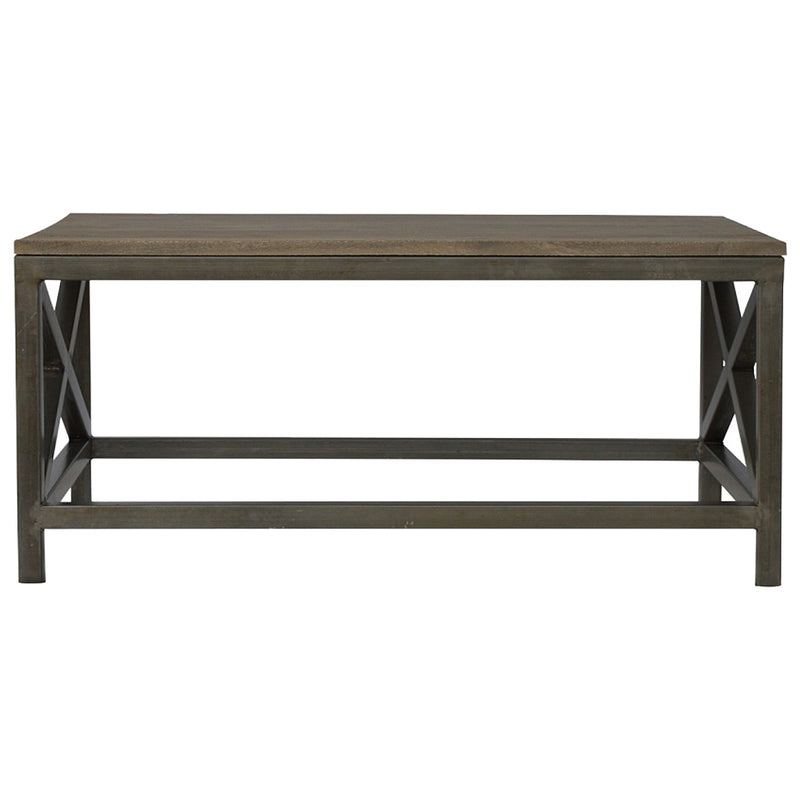 Industrial Coffee Table, Sandblasted