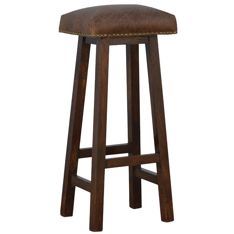 Buffalo Leather Bar Stool