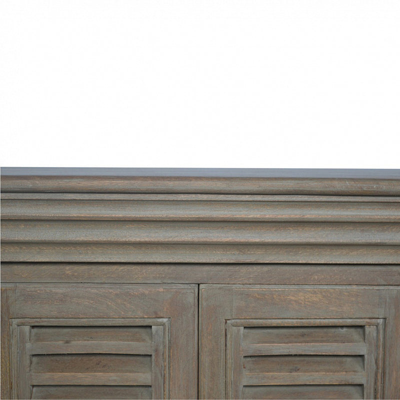 Handcrafted Unit with 6 French Inspired Shutters Cabinet Doors