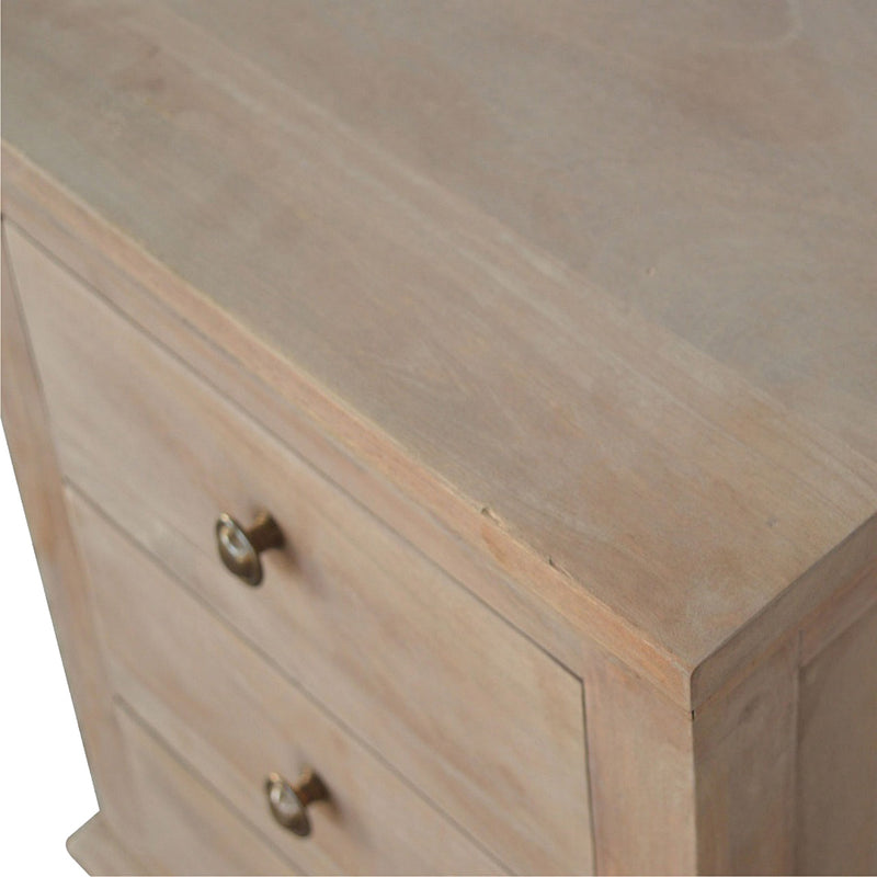 Handcrafted 3 Drawer Bedside