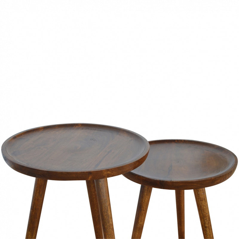 Chestnut Round Nest Of Tables