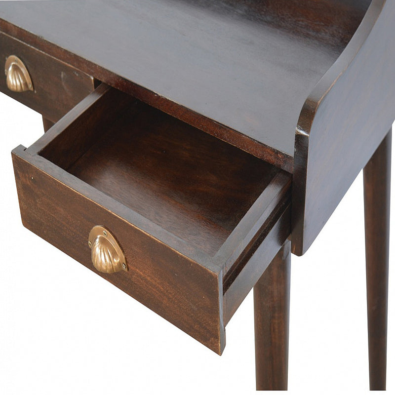 Walnut Finish Gallery Back Desk