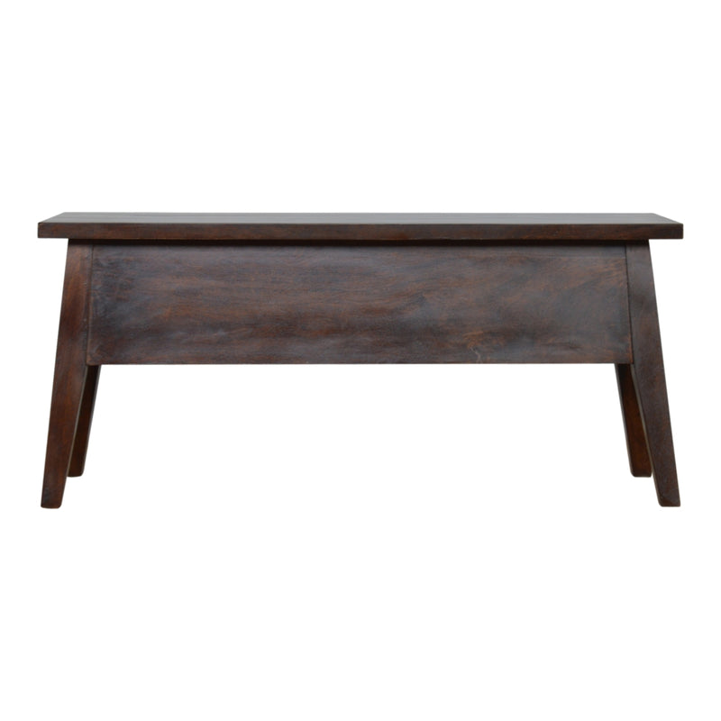 Cille - Lid-Up Storage Bench, Walnut Finish