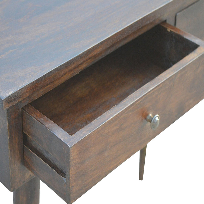 Cille - 2 Drawer Console Table, Walnut Finish