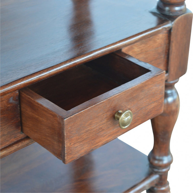 2 Drawers Turned Legs Console Table