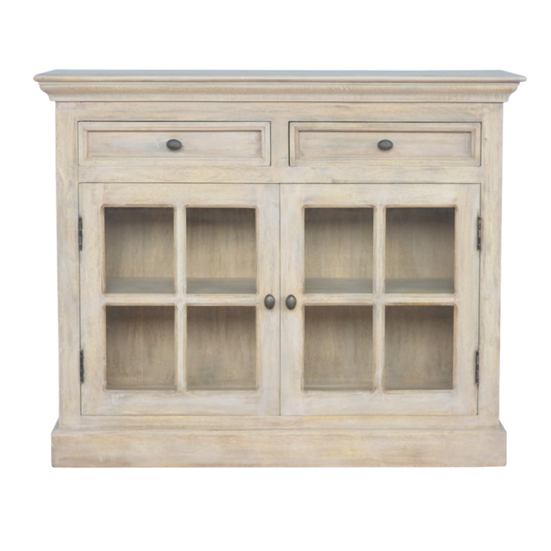 2 Doors 2 Drawers Cabinet, Acid Wash