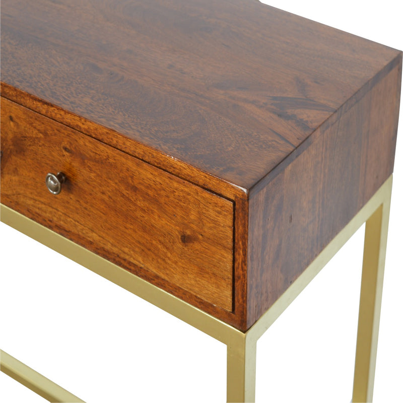 Golden Base 2 Drawer Console Table