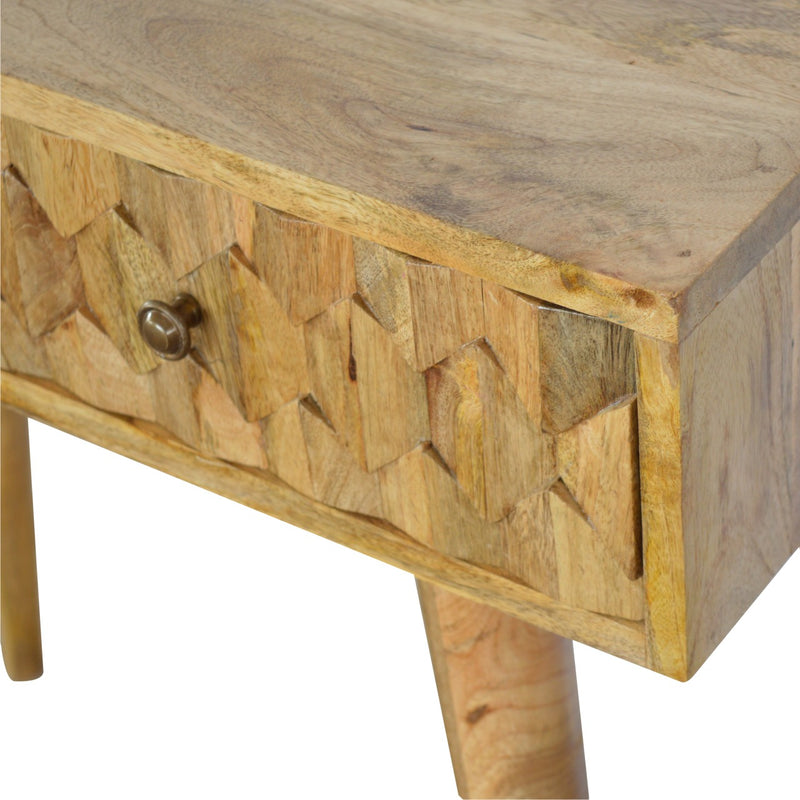 Pineapple Carved 2 Drawers Console Table