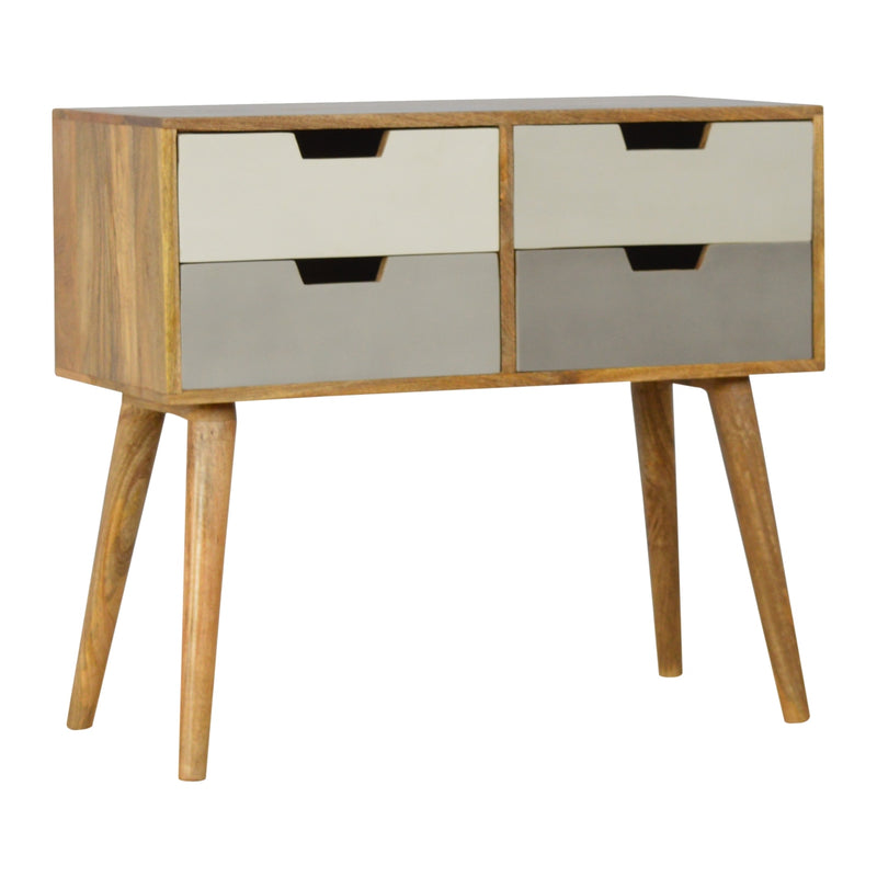 4 Drawers Gradient Console Table