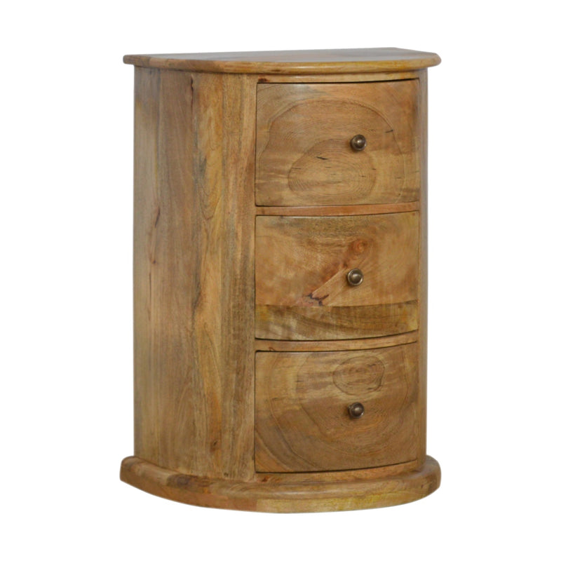 Serpentine Shaped 3 Drawers Chest