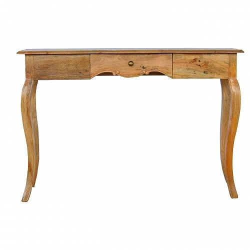 Handcrafted Solid Wood Console With Cabriolet Legs - HM_FURNITURE