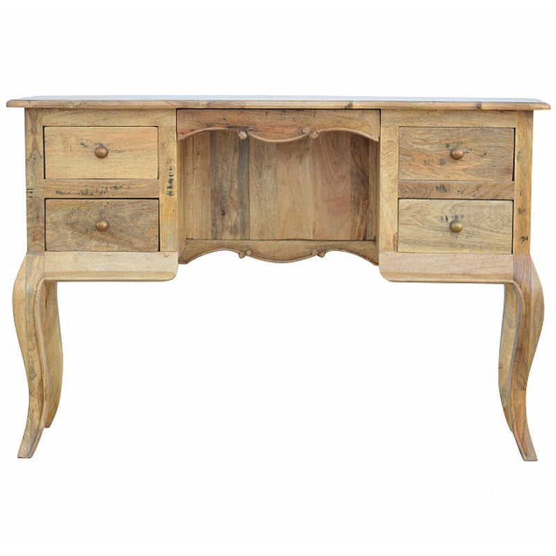 Handcrafted Solid Wood Dressing Table With 4 Drawers - HM_FURNITURE