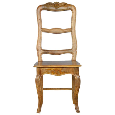 Handcrafted Carved Ladder Back French Style Dining Chair - HM_FURNITURE