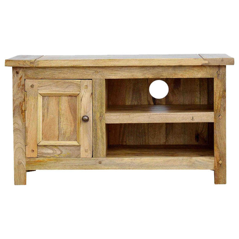 Handcrafted Media Unit With natural Oak-ish Finish - HM_FURNITURE