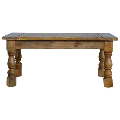 Handcrafted Carved Legs Coffee Table - HM_FURNITURE