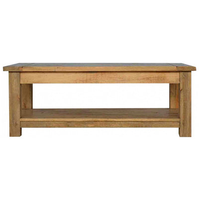 Handcrafted Solid Wood Large Coffee Table - HM_FURNITURE