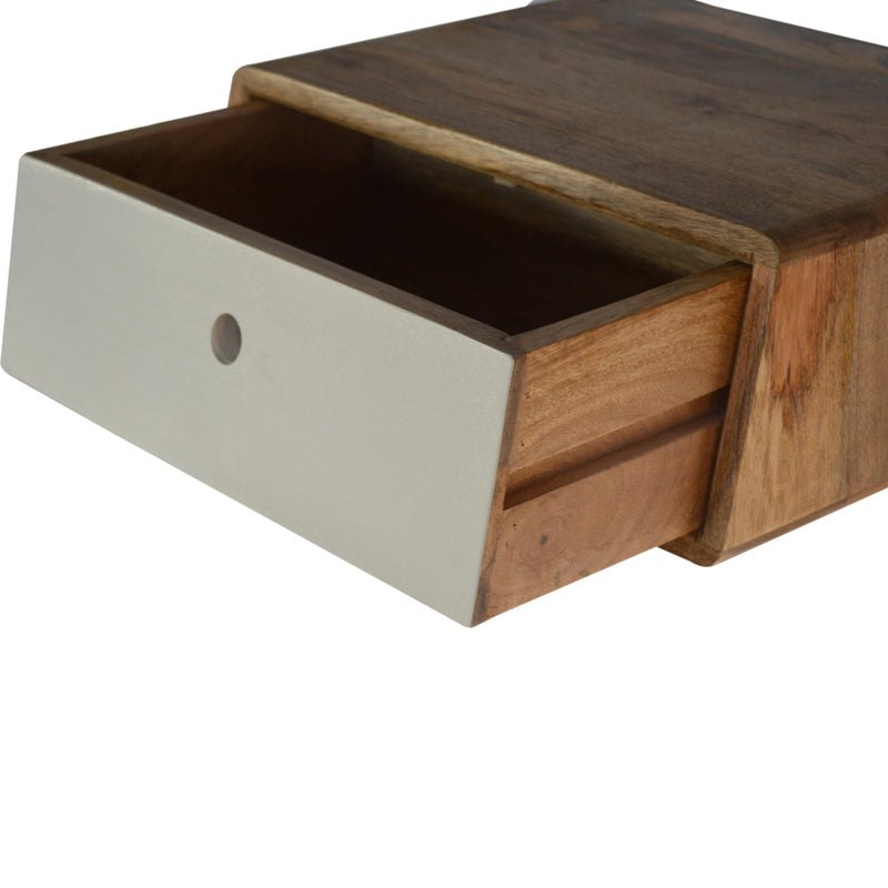 1 Drawer Angled Bedside
