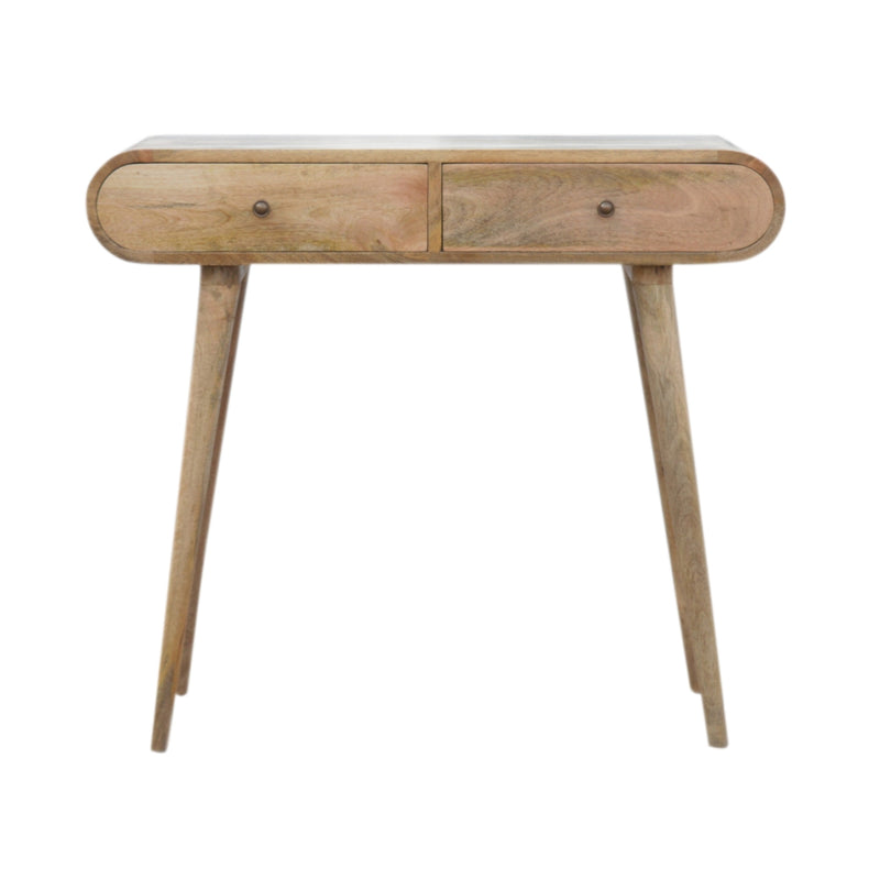 Oak Finish 2 Drawer London Console Table