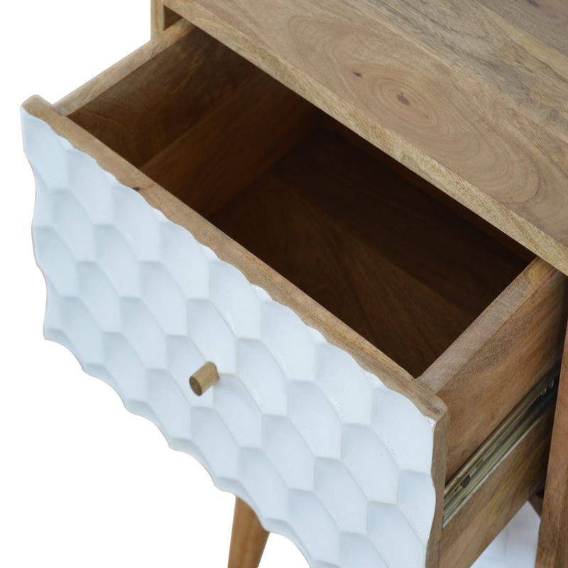 Aimee - 2 Drawer Bedside, Honeycomb