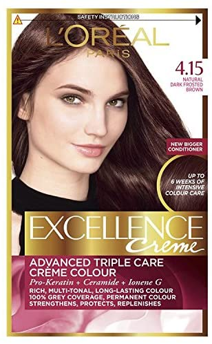 LOREAL PARIS EXCELLENCE CREAM, FROSTED BROWN(4.15)