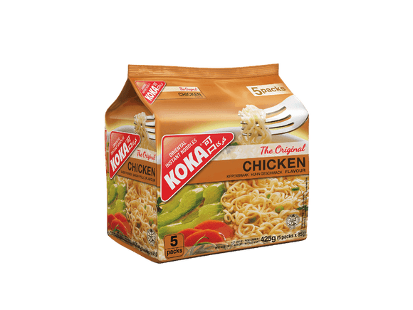 KOKA CHICKEN FLAVOUR INSTANT NOODLES (85G*5PACKETS)