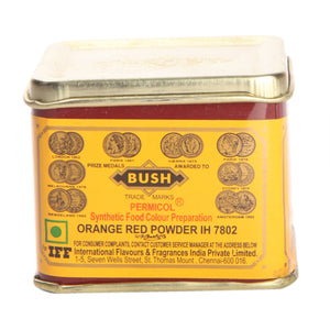 BUSH ORANGE RED POWDER COLOUR(100GM)
