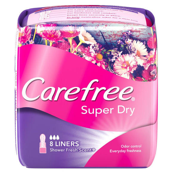 CAREFREE SUPER DRY SCENTED LINERS (8 LINERS)