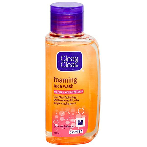CLEAN & CLEAR FOAMING FACE WASH (50ML)